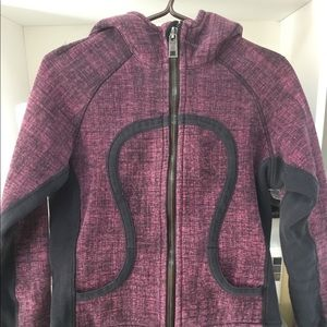 LULULEMON SCUBA black purple melange Size M